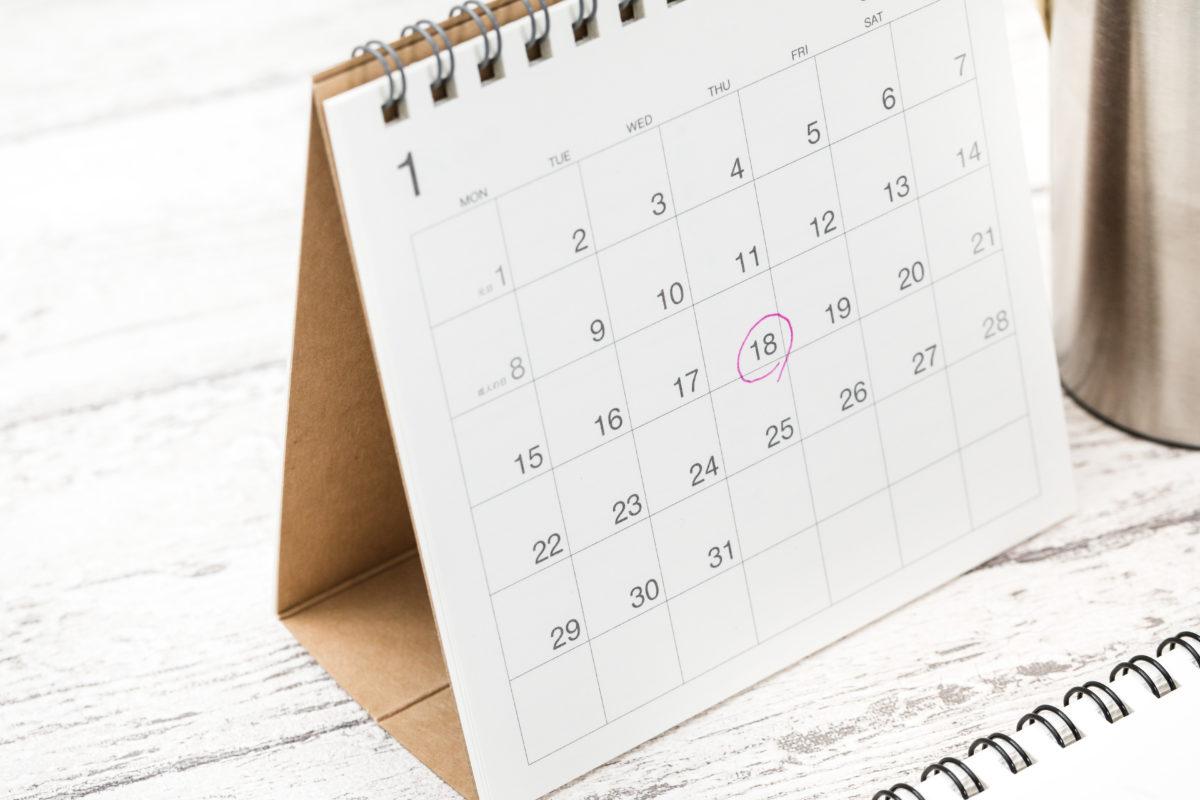カレンダーで採用されやすい時期を確認